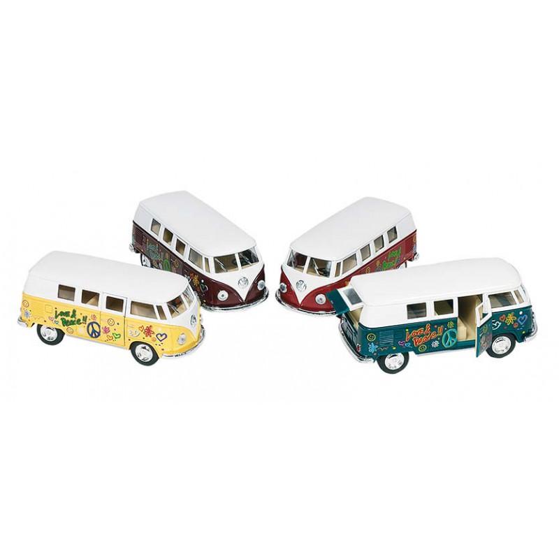 volkswagen classical bus 1962 en m tal 1 32 hippie. Black Bedroom Furniture Sets. Home Design Ideas
