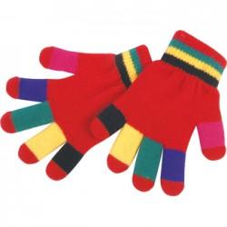 Gants multicolores : hiver...