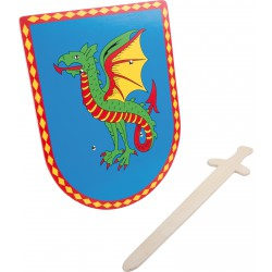 Bouclier et épée en bois...