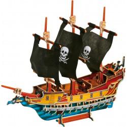 Puzzle 3D Bateau de pirate