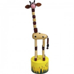 Animé girafe long cou marron