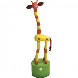 Animé girafe long cou rouge