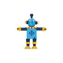 Robot en bois peint articulé